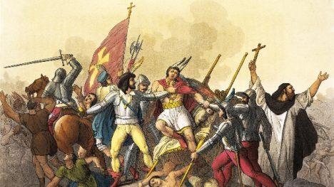 Podlý útok Španělů na bezbranné Inky.
