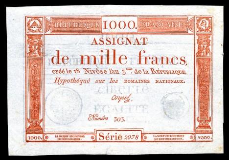 Francouzské bankovky se tisknou kvůli tomu, aby se ve Francii snížil státní dluh.