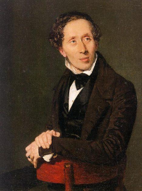 Hans Christian Andersen má mindrák ze své vysoké postavy.
