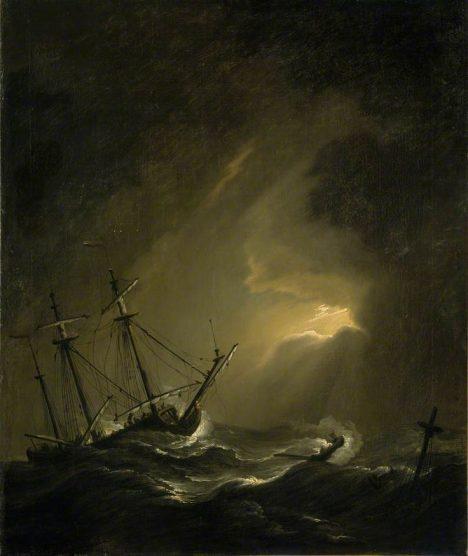 Hrozivá bouře námořníky zaskočí. Otáčejí kormidla a plují zpět.