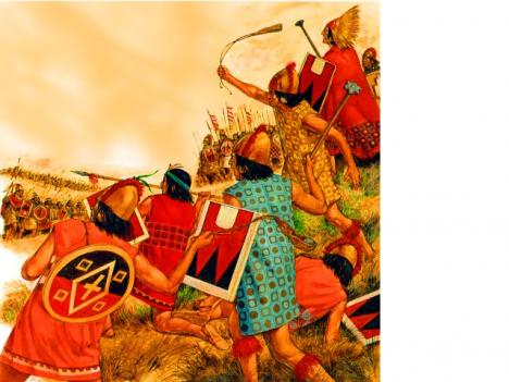 Občanská válka zapříčinila nejvíce pád Incké říše.