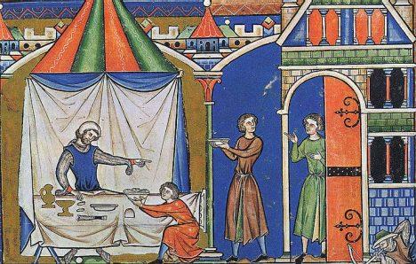 Jídlo pro panovníka už ve středověku obstarávají nejvybranější mistři kuchaři.