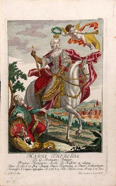 Jízda na koni se pro Marii Terezii stane vášní. Aby nemusela ze sedla, dokonce zapře své těhotenství.