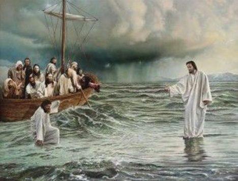 Ježíš kráčí po vodě