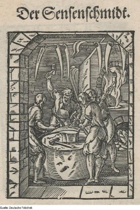 Kosa a její broušení je sice známá už během vrcholného středověku, ovšem na své masové rozšíření si ještě hodně počká.