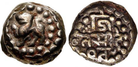 Mince z období panování Mámally. Tehdy v Mahábalípuram tvoří velkou a bohatou říši.