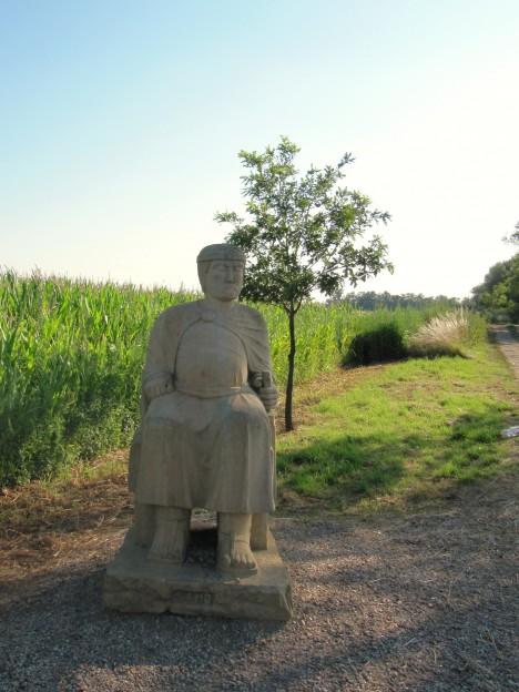 Na vrchu Náklo u Hodonína má franský kupec Sámo dokonce i svoji sochu.