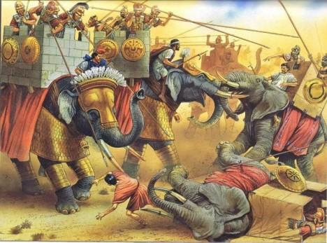 Na základě výsledku této bitvy se většina Evropanů až do 19. století domnívá, že indičtí sloni jsou větší než afričtí. Ve skutečnosti je tomu naopak.