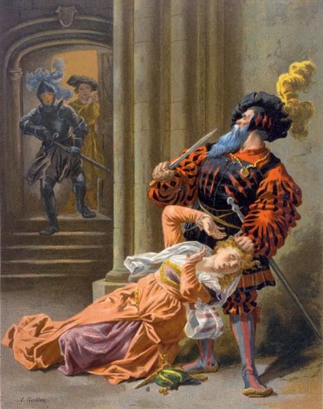 Případem Gillese de Raise je inspirován francouzský lidový příběh Modrovous, jenž vypráví o aristokratovi, který vraždí své manželky.