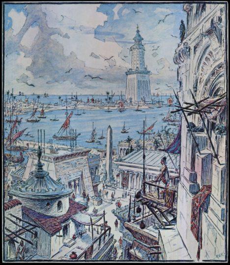 Před katastrofou ve městě přistávají spousty zámořských lodí.