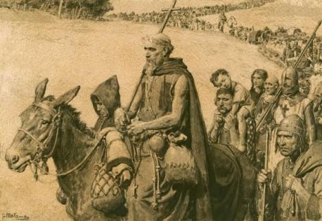 Papežův příkaz, aby táhli do Svaté země, poslechnou i venkované.