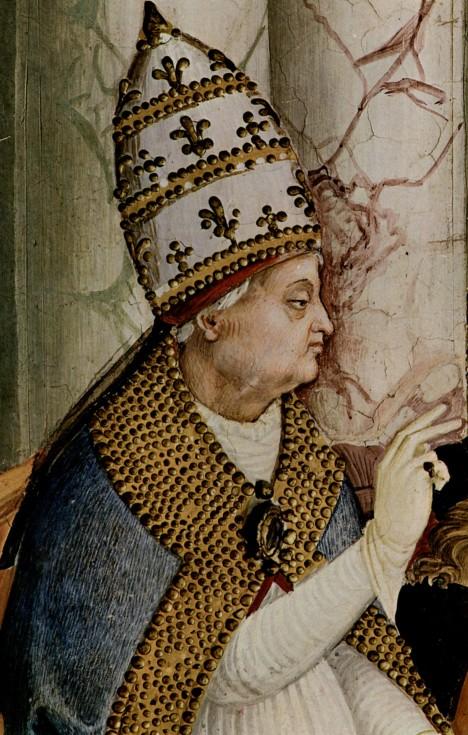 Papež PIus II. kritizuje mravy českého královského páru.