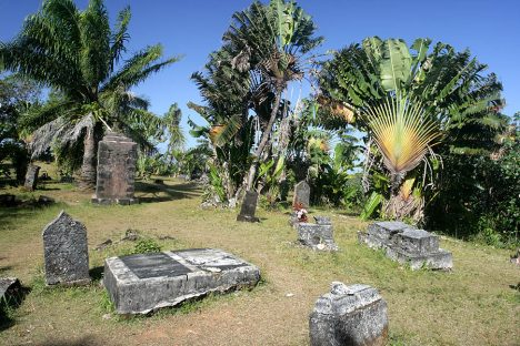 The cemetery of past pirates at Île Ste-Marie (St. Mary's Island)