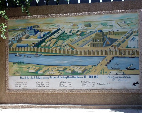 Plán starověkého Babylonu. Ve městě už tehdy nechyběly hospody.