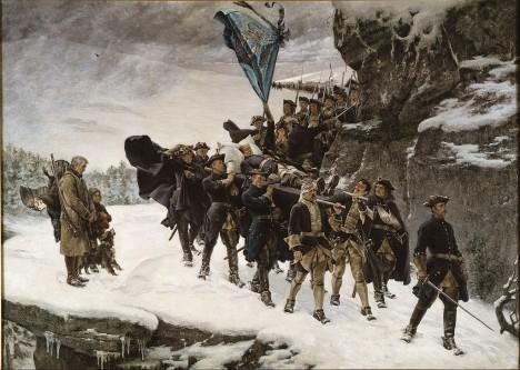 Plány Karla XII. utne v roce 1718 nepřátelská kulka.