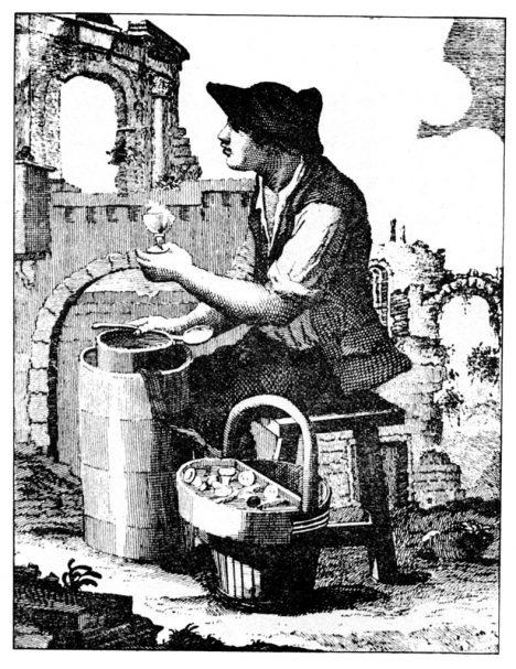 Pouliční prodavačí zmrzliny získávají v 19. století velkou popularitu.