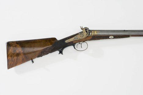 Puška z dílny Anatona Vincenze Lebedy, muže, který provedl balistickou analýzu kulky.