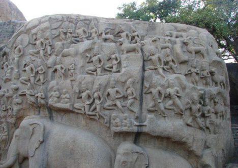 Reliéfy v jihoindickém Mahábalípuramu vyžadují od svých tvůrců v 7. století opravdu velké řemeslné umění.