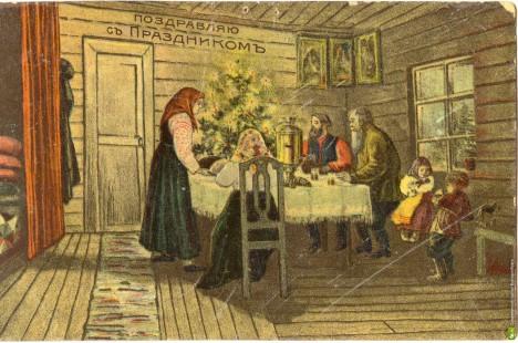 Rozsvícený vánoční stromeček představuje život, který se vrací s narozeným Kristem.