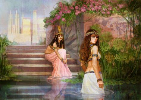 Starověké Egypťanky koupele milují. Klidně i několikrát denně.