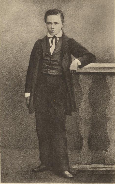 Třináctiletý Tomáš Masaryk. O pár let později se na brněnském gymnáziu dostane do konfliktu dokonce i se samotným ředitelem.