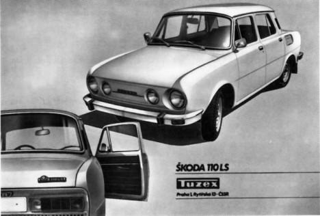 Tuzex Skoda 110LS plakat - ed