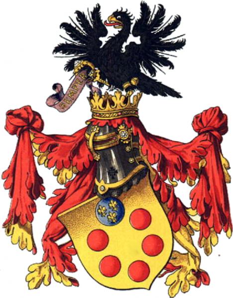 Znak bohatého bankéřského rodu Medicejů se objevuje na mnoha stavbách, které v italské Florencii financují.