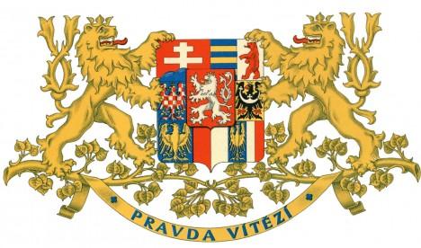 Znak první československé republiky nechybí ani na uděleném státním vyznamenání.