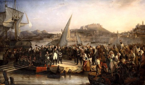 Napoleon opouští Elbu.