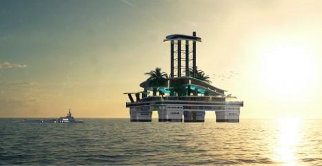 Soukromý ostrov má poskytovat veškeré pohodlí včetně písečné pláže, podvodních salonků a dalšího luxusu.