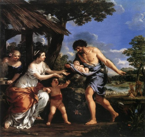 Romulus and Remus Given Shelter by Faustulus Pietro da Cortona - Louvre