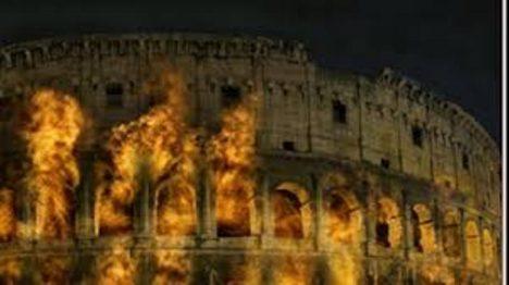 hořící koloseum