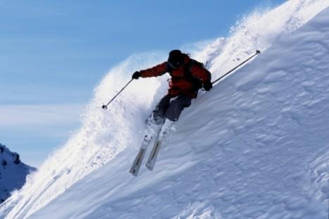 lavina lyžar