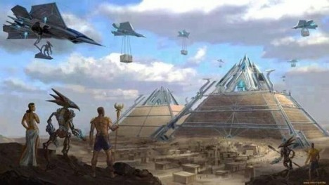mimozemšťané a pyramida
