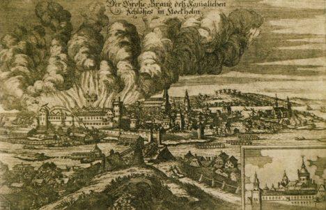 požár Stockholmu