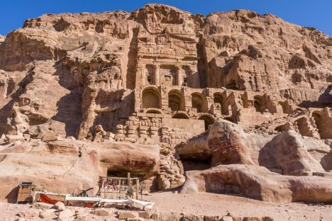 Petra, an ancient Nabatean city in today's Jordan, which is now known to have featured luxurious irrigated gardens. read more: http://www.haaretz.com/jewish/archaeology/1.744119