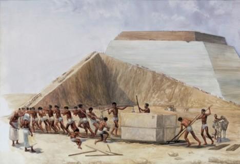 stavba pyramidy