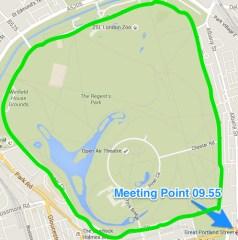 Regent's Park Run London 05.04.16