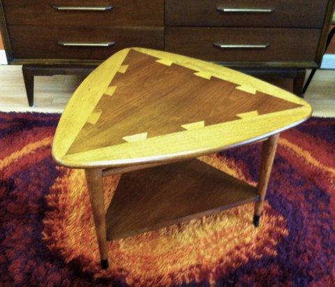 mid-century-Lane-Acclaim-Wedge-Table