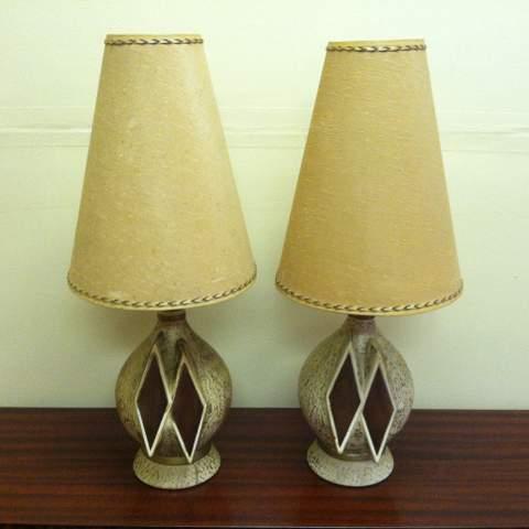 mid century bulbous lamps