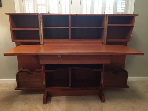 teak desk in a box mid century danish modern
