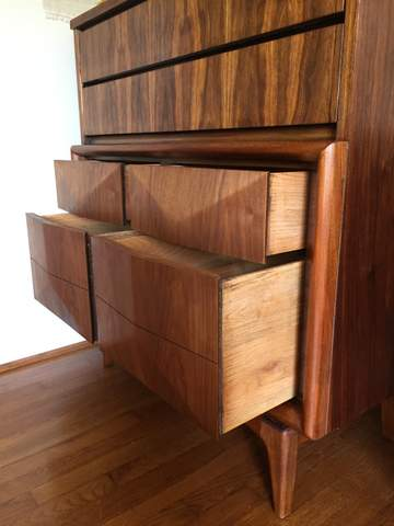 Mid Century Modern Dresser And Nightstand By Kagan