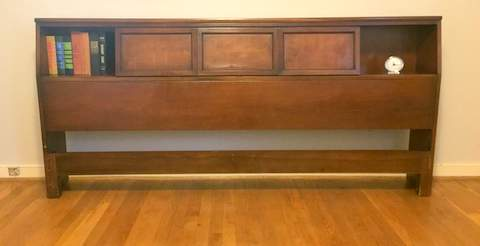 mid century modern king headboard sliding doors