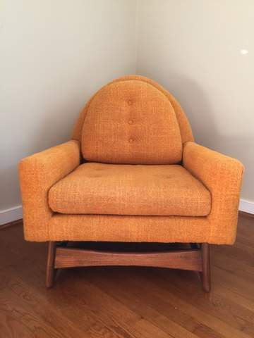 Vintage Mid Century Modern Lounge Chair By Kroehler With