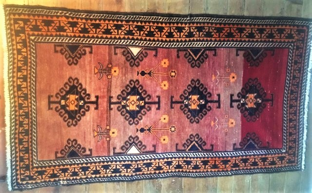 vintage persian tribal rug 4x8