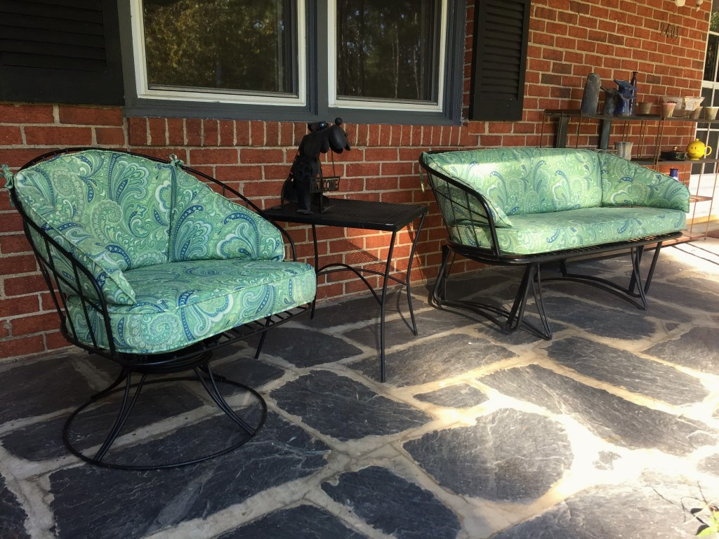 vintage glider and matching rocker