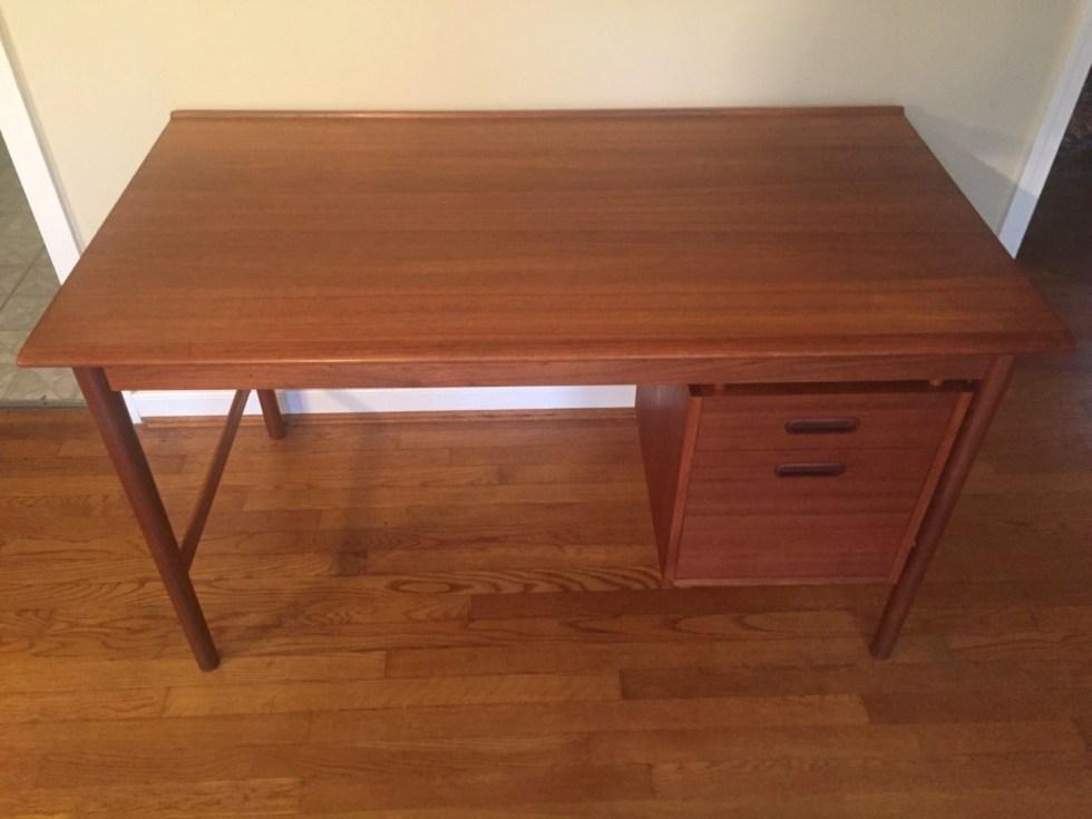 vintage teak desk dux folke ohlsson model 541