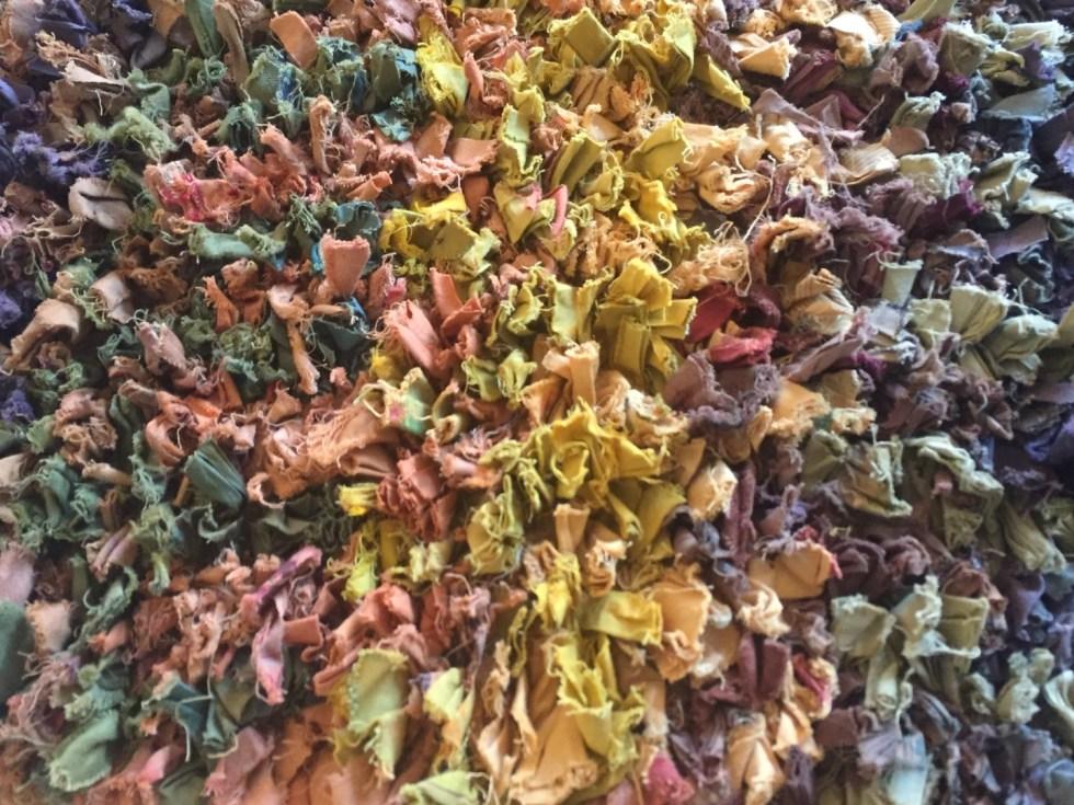 multi colored rag weave area rug