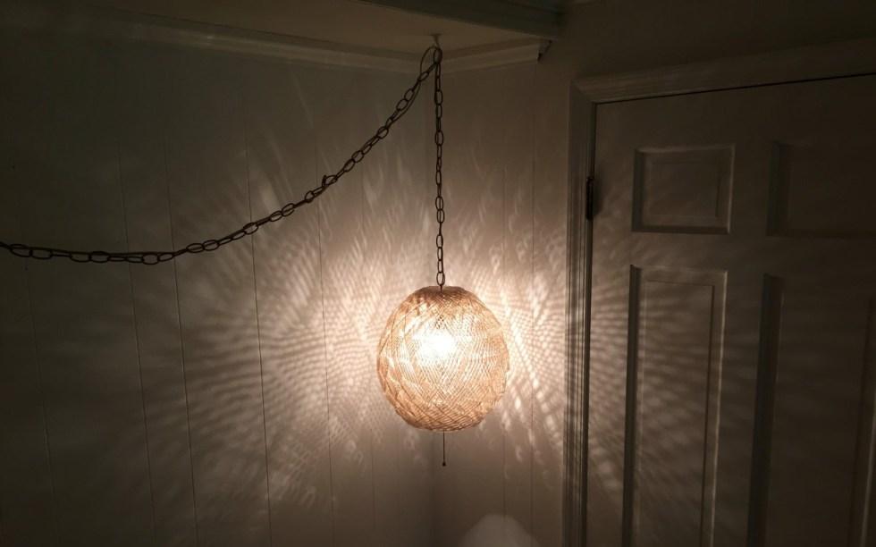 mid century modern acrylic swag spaghetti lamp