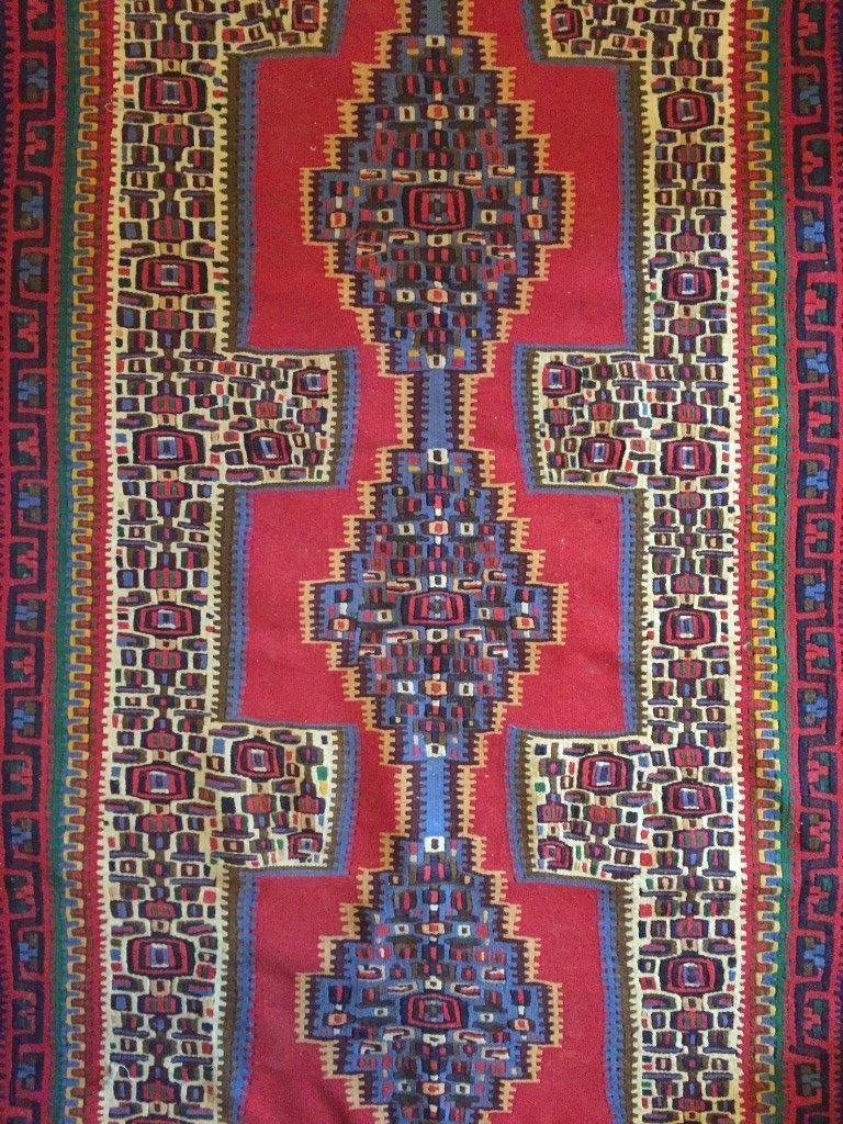 vintage senneh kilim rug runner
